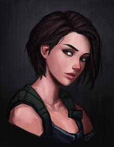 Tyrant Resident Evil, Resident Evil Girl, Resident Evil 3 Remake, Resident Evil Anime, Female Character Design, Character Design Inspiration, Character Art, Fantasy Characters, Female Characters