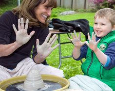 Hands on clay - getting dirty is a lot of fun for children
