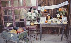 Any one of the three main elements in this fall vignette would work beautifully on their own for those with limited space.