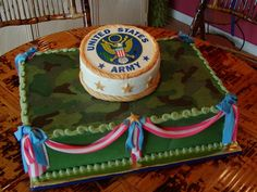 Change it to the Marine Corps & it would be a perfect welcome home cake