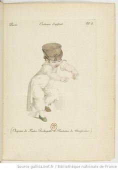 Costume d'enfant. Chapeau de feutre. [Redingote] et pantalon de mousseline