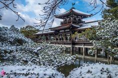 Petite mise a jour de la fiche du sanctuaire Heian-jingû avec des photos sous la neige.  http://voyageakyoto.fr/heian-jingu/ #Kyoto #Sanctuaire #Heianjingu