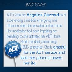 This is Angeline Guzzardi's story. #ADT #ADTSaves #AlwaysThere #HomeHealth #SeniorSafety #Seniors