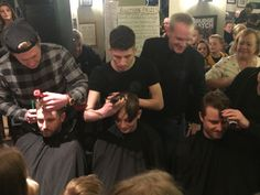 Our founders' three sons all had their heads shaved to raise funds for a local child with leukaemia last night #community #leukaemia #cancer