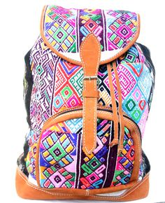 The Nahuala Blanco Backpack is made with traditional recycled huipil embroidery from the village of Nahuala, Guatemala. This bag incorporates traditional Mayan aesthetics in a large style backpack,sturdy enough to hold books and durable for travel. Bright Tribal Fabric One Exterior Large Pockets Tight Flexible Closure Adjustable Shoulder Straps Free Shipping USA Approximate Dimensions:Height: 40 [...]