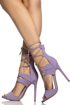 90812d970af Buy Lavender Faux Nubuck Lace Up Single Sole Heels with cheap price and high  quality from Cicihot Heel Shoes online store which also sales Stiletto Heel  ...