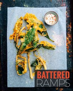 This beer battered ramp recipe features wild leeks, also known as wild garlic. Foraged in the Spring this recipe features them as the ultimate onion ring with great texture and flavour.