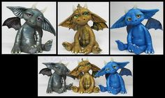 Polymer Clay Fantasy Dragons by KabiDesigns
