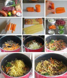 Receita de Yakissoba Easy Healthy Dinners, Easy Healthy Recipes, Lunch Recipes, Asian Recipes, Dinner Recipes, Asian Cooking, Healthy Cooking, Cooking Recipes, Health Dinner