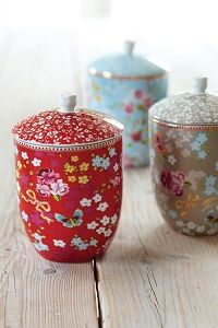 And I'd get a few cute storage jars (these are Studio Pip) for the loose leaf teas.