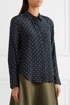 Vince | Printed silk shirt | NET-A-PORTER.COM