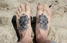 I'd totally get these on my feet. I honestly don't care what anyone says about men being allowed to get tattoos on their feet...f**k you, these are awesome!