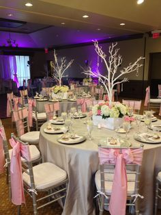 Gorgeous pink and grey wedding at Falcons Fire Golf Club in Kissimmee FL…