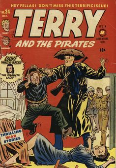 Comic Book Cover For Terry and the Pirates Comics #24