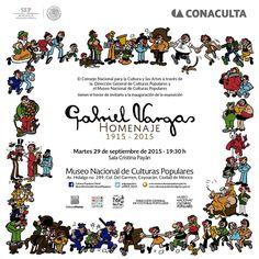 #ParaAgenda el @MNCP_DGCP abrirá la exposición Gabriel Vargas Homenaje 1915-2015
