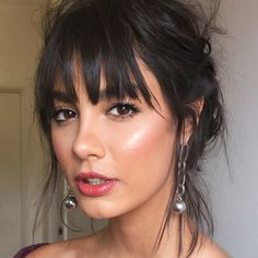 Easy Boho Hairstyle For Long Hair - 20 Trendy Half Braided Hairstyles - The Trending Hairstyle Half Braided Hairstyles, Hairstyles With Bangs, Trendy Hairstyles, Bangs Hairstyle, Braided Updo, Vintage Hairstyles, Wedding Hairstyles, Corte Y Color, Pinterest Hair
