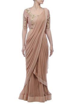 Shop Nidhika Shekhar lehenga sari at https://www.azafashions.com/