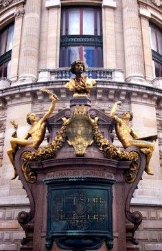 Facade on the Paris Opera House...the building is too beautiful for words!