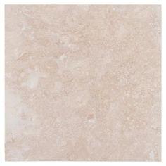 BATH FLOOR, MAIN & MASTER Caria Light Travertine Tile - 18in. x 18in. - 922101101   Floor and Decor