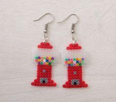 Gumball Machine - Perler Bead Earrings