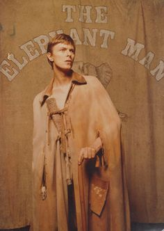 David Bowie in the Elephant Man, 1980. Joseph Merrick, John Merrick, Ziggy Stardust, Elephant Man, David Bowie Born, Broadway, Bowie Starman, The Thin White Duke, Sound & Vision