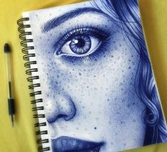 Ballpoint pen doodle by Morgan Davidson. Biro Art, Ballpoint Pen Art, Ballpoint Pen Drawing, Pen Sketch, Art Sketches, Sketch Drawing, Drawing Ideas, Pen Doodles, Pencil Art