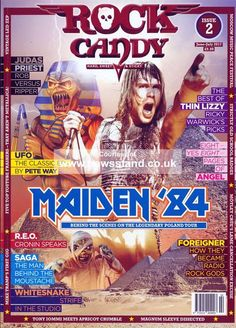 Buy a single copy or a subscription to Rock Candy Magazine from the worlds largest online newsagent. An exciting bi-monthly rock title brought to you by writers who Rob Halford, Where Eagles Dare, School Badges, James Dio, Bruce Dickinson, Thin Lizzy, Old Advertisements, American Tours, Judas Priest