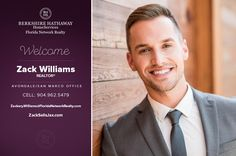 BERKSHIRE HATHAWAY HOMESERVICES FLORIDA NETWORK REALTY WELCOMES ZACKERY WILLIAMS