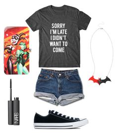 """Lazy mall outfit"" by batbae01 ❤ liked on Polyvore featuring mode, Converse et NARS Cosmetics"