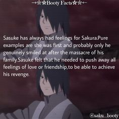 Sasuke always feeling for sakura
