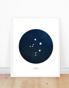 Libra Constellation, Zodiac Art Print, Astronomy Art, Constellations, Modern Art Print by bonmotprints on Etsy https://www.etsy.com/listing/268341092/libra-constellation-zodiac-art-print