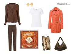 The Vivienne Files: A Travel Capsule Wardrobe - Packing in brown and TANGERINE!
