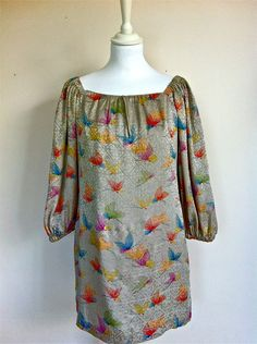 Paul and Joe Grey Silk Butterfly Print Top Size 40 via The Queen Bee. Click on the image to see more!