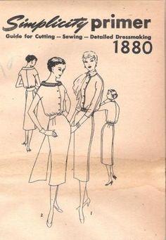 Vintage 50s Cocktail Dress Pattern Simplicity 1880 by Revvie1, $8.00