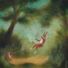 "Animal Painting - ""The Swing"""