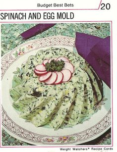 Spinach and Egg Mold  (Weight Watchers Recipe Cards, 1974)