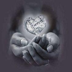 Heart in hands (black & white) I Love Heart, My Heart, Healing A Broken Heart, Spiritual Wisdom, Spiritual Enlightenment, Spirituality, Mind Body Spirit, All You Need Is Love, Awakening