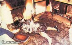 At approximately 4 p.m. on Wednesday, September 15, 1982, Jeannie Saffin aged 61, burst into flames while sitting on a wooden Windsor chair in the kitchen of her home in Edmonton, London, England. Her father, eighty-two-year-old Jack Saffin, was seated at a nearby table and said he saw a flash of light out of the corner of his eye and turned to Jeannie to ask if she had seen it. He was astonished to find that she was enveloped in flames, mainly around her face and hands.