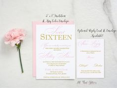 Sweet 16 Invitations  Sweet Sixteen Invitations  by ATGInvitations