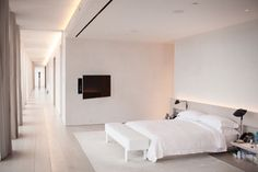 Ian Schrager's master bedroom and long hallway
