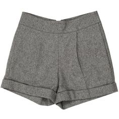 Pre-owned Alice + Olivia Shorts (825 MXN) ❤ liked on Polyvore featuring shorts, bottoms, pants, short, grey, gray shorts, high-waisted shorts, short shorts, grey high waisted shorts and alice olivia shorts