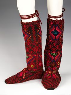 Macedonian stockings via The Costume Institute of the Metropolitan Museum of Art