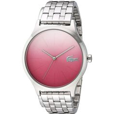 Lacoste NIKITA - 2000991 (Pink) Watches (10.100 RUB) ❤ liked on Polyvore featuring jewelry, watches, pink watches, pink wrist watch, quartz movement watches, sport watches and pink-face watches