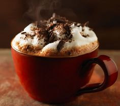 Steaming Hot Chocolate .