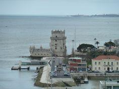 Torre de Bélem seen from Padrão dos Descobrimentos.