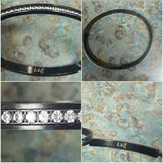 B Tiff Swaravski Crystal Bangle Bracelet NWOT. Never worn. Price can be negotiable, within reason. A black bangle braclet with Swarovski crystal elements from B Tiff New York. Accessories