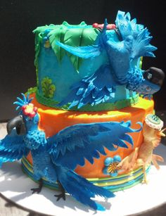 Party and event ideas and inspirations Rio Birthday Parties, 50th Party, Rio Cake, Rio Party, Rio 2, Pinterest Cake, Disney Pixar Movies, Number Cakes, Cake Central