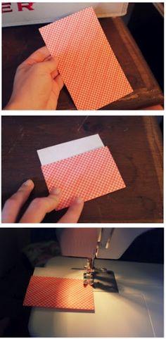 DIY envelopes out of scrap paper
