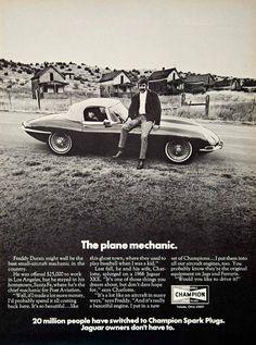 Other Collectible Auto Advertising Jaguar Xk, Jaguar E Type, Jaguar Cars, Print Advertising, Print Ads, Aircraft Engine, Spark Plug, Retro Cars, Vintage Advertisements