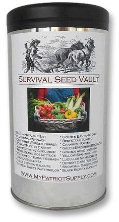Survival Seed Vault - The Survival Seed Vault contains only the highest quality heirloom vegetable survival seeds. They Patriot Seeds are 100% Non-GMO, open-pollinated and placed in specially sealed packets allowing for long term storage.